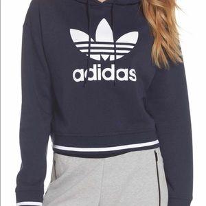 Adidas navy blue cropped sweatshirt size XL BNWT